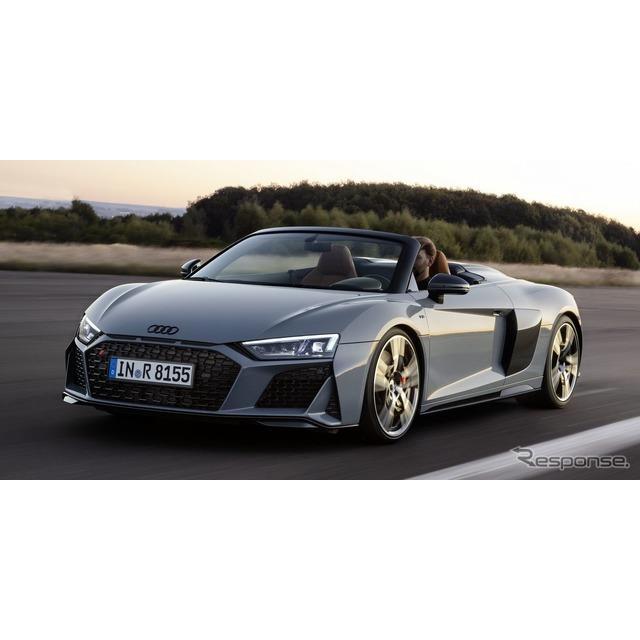 アウディは、4月17日に米国で開幕するニューヨークモーターショー2019において、改良新型『R8』(Audi R8)...