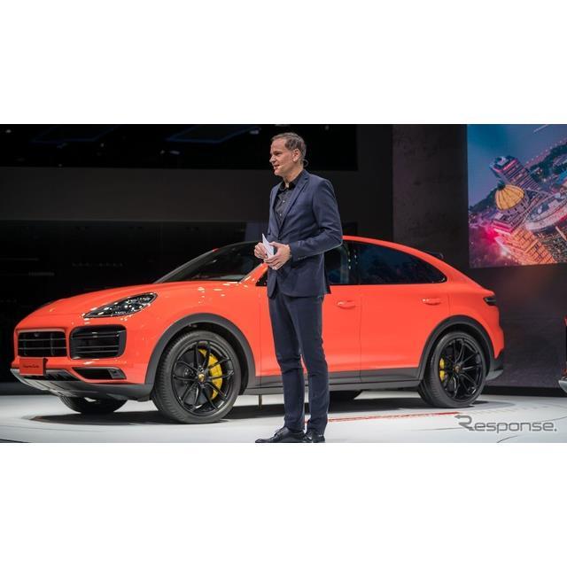 ポルシェは4月16日、中国で開幕した上海モーターショー2019において、『カイエンクーペ』(Porsche Cayenne...