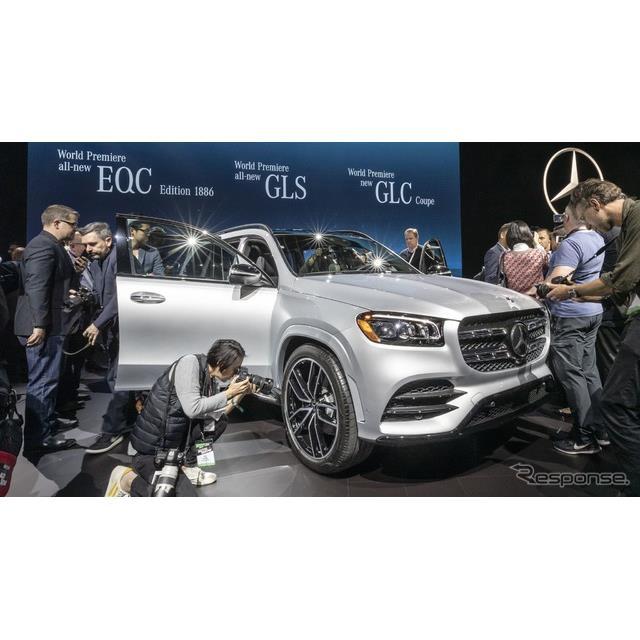 メルセデスベンツは4月17日、米国で開幕したニューヨークモーターショー2019において、新型『GLS』(Merced...