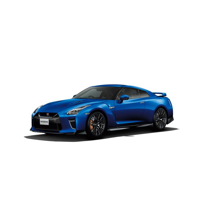 「日産GT-R」(2020年モデル)。ボディーカラーは「ワンガンブルー」。