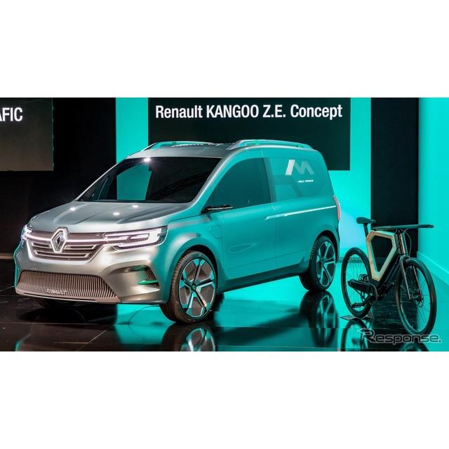 ルノーグループは4月23日、ルノー『カングーZ.E.コンセプト』(Renault Kangoo Z.E. Concept)をフランスで...