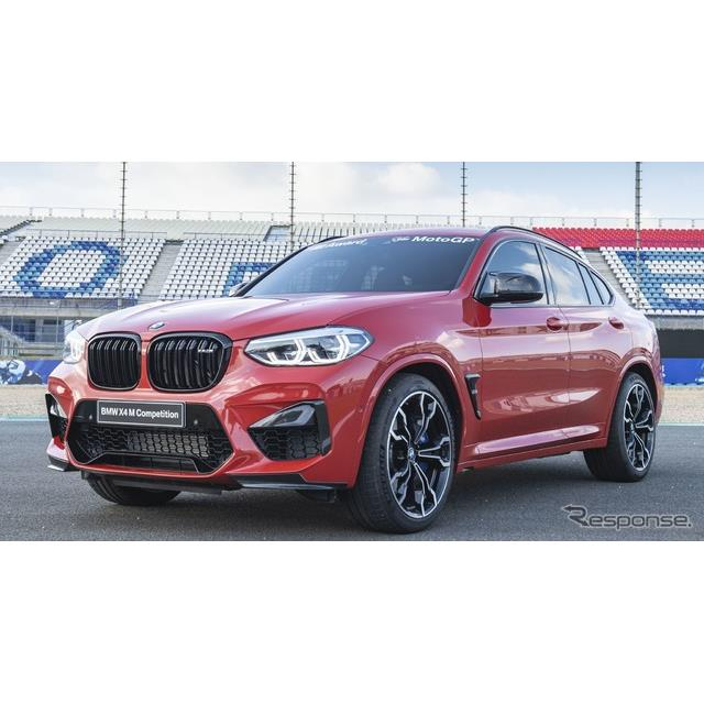 BMWは『X4Mコンペティション』(BMW X4M Competition)を、二輪レース世界最高峰の「MotoGP」の2019年の年...