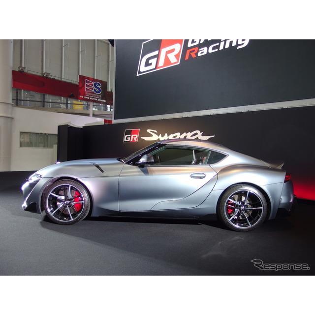 """トヨタ自動車は17日、新型『スープラ』を発売した。新型スープラには、外板色""""マット・ストームグレーメタ..."""