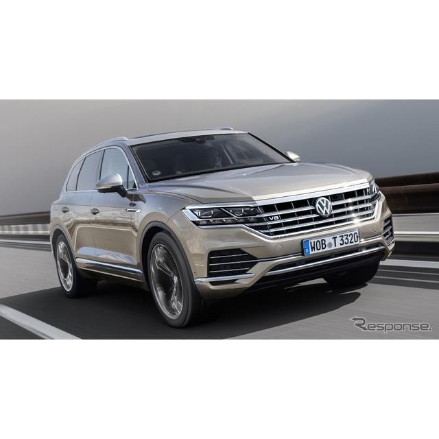 フォルクスワーゲンは5月21日、新型『トゥアレグ』(Volkswagen Touareg)の新開発ディーゼル、「V8 TDI」...
