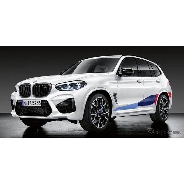BMWは6月3日、新型『X3』の最強モデル『X3M』と、新型『X4』の最強モデル『X4M』に、「Mパフォーマンスパー...