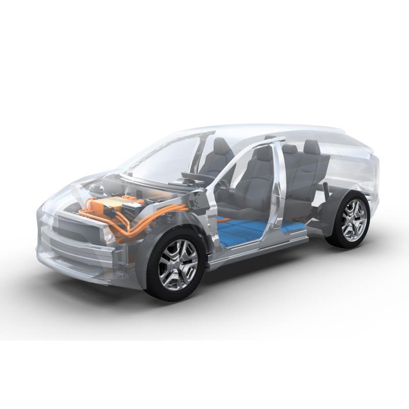 トヨタとスバルが共同開発するEV用プラットフォームのイメージ。