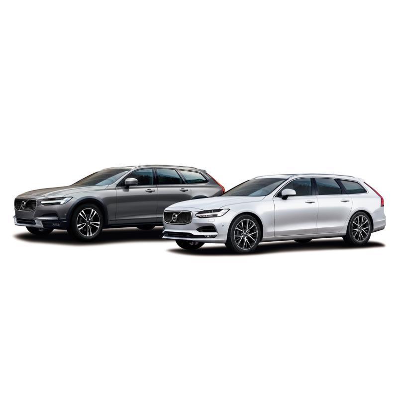 「ボルボV90 D4ノルディックエディション」(右)と「V90クロスカントリーD4 AWDノル...