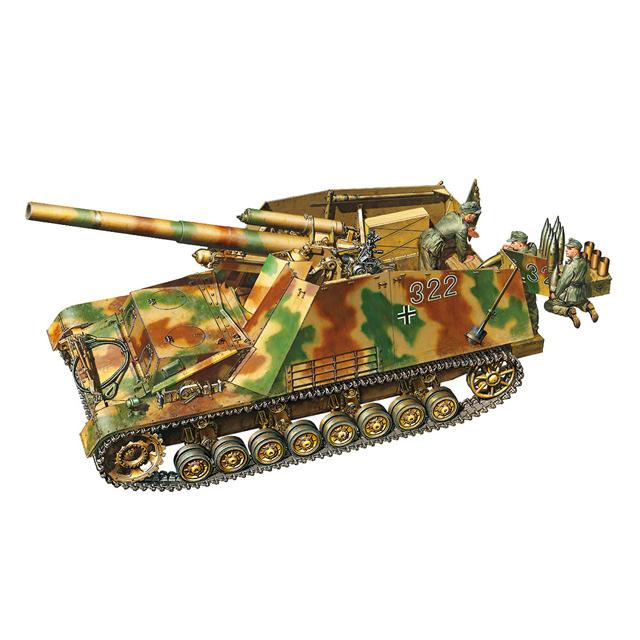 「1/35 ドイツ重自走榴弾砲 フンメル 後期型」