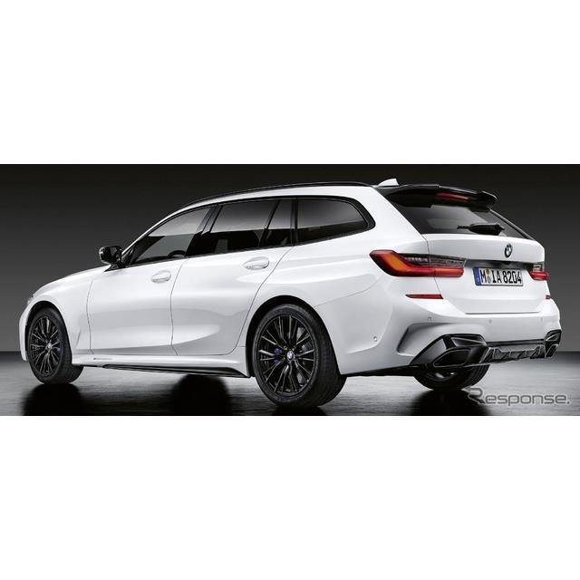 BMWは6月25日、新型『3シリーズ ツーリング』(BMW 3 Series Touring)に、「Mパフォーマンスパーツ」を欧...