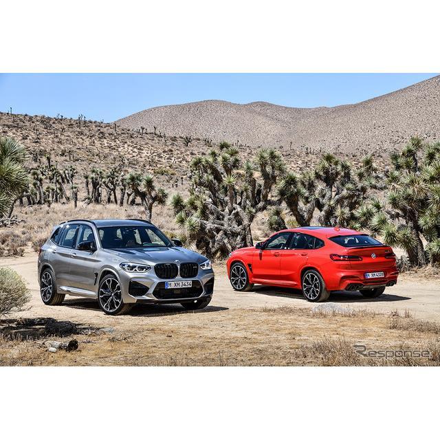 BMW X3M(向かって左)とX4M