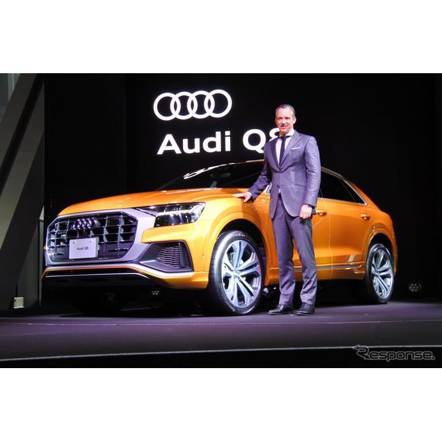 アウディジャパンは新型SUV『Q8』を9月3日に発売すると発表した。価格は992万-1102万円。アウディジャパン...
