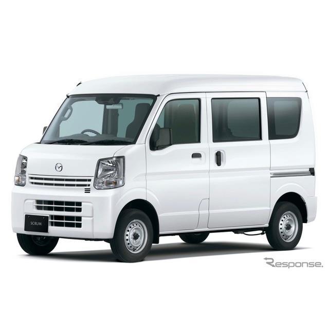 マツダは、軽商用車『スクラムバン』および軽乗用車『スクラムワゴン』を一部改良し、先進安全装備の拡充な...