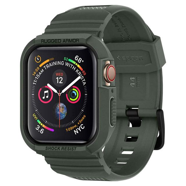 シュピゲン、Apple Watch Series 4用ケースに新色「ミリタリー・グリーン」追加