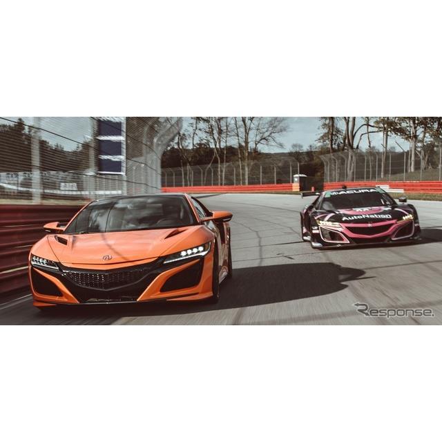 ホンダの海外向け高級車ブランド、アキュラは7月10日、『NSX』(Acura NSX)の「ロードカーvsレーシングカ...