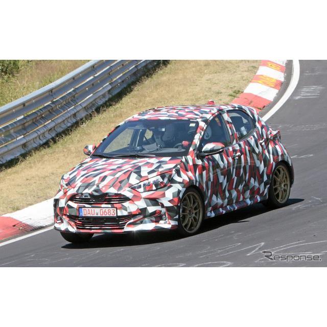 トヨタ ヤリス 次期型 高性能モデル(スクープ写真)
