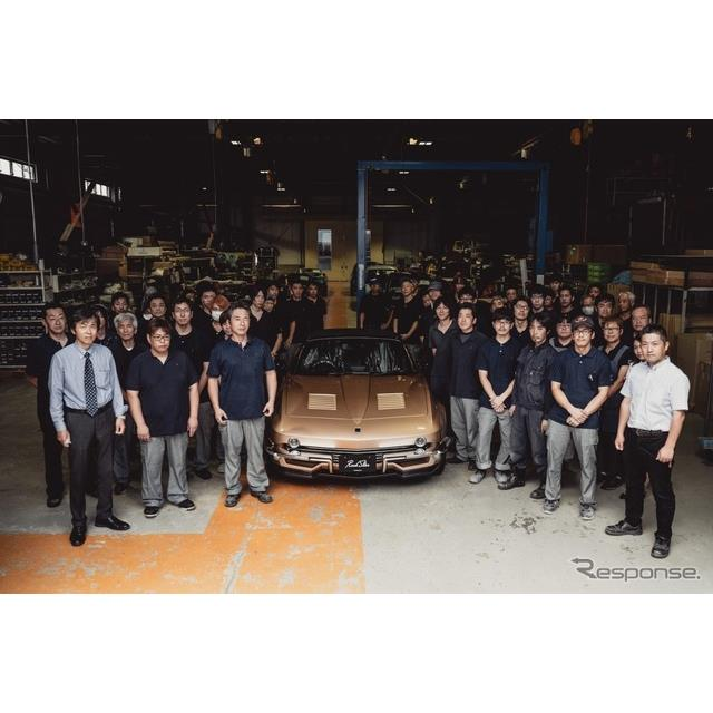 光岡自動車は7月23日、創業50周年記念モデルの新型車『ロックスター』のラインオフセレモニーを実施。初号...