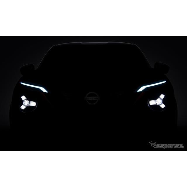 日産の新型車のティザーイメージ
