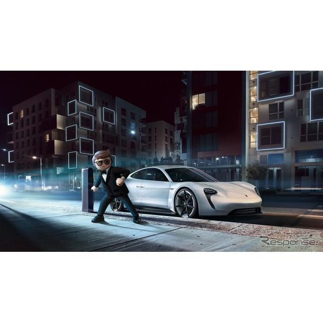 ポルシェ・ミッションEと映画『THE MOVIE Rex Dasher』の主人公のスパイ、レックス・ダッシャー