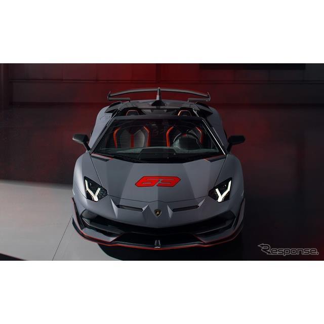 ランボルギーニは8月16日、『アヴェンタドール SVJ 63 ロードスター』(Lamborghini Aventador SVJ 63 Road...