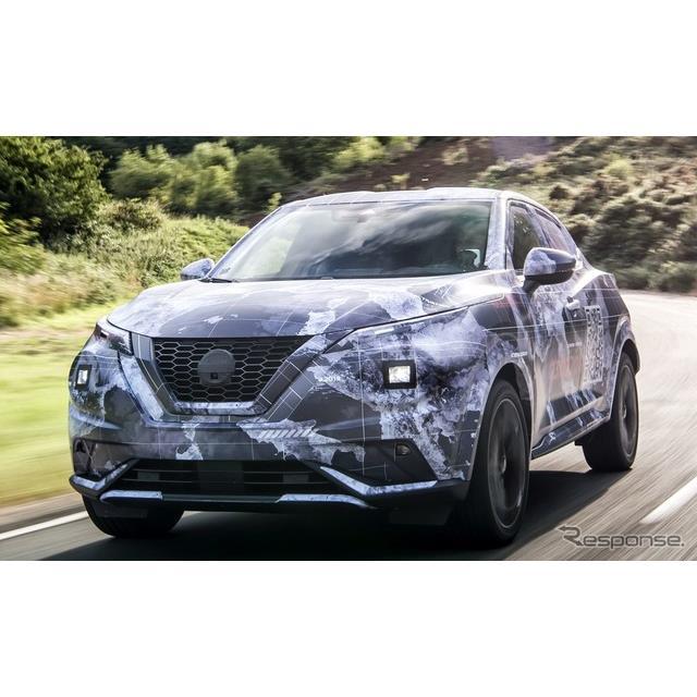 日産自動車の欧州部門は8月19日、新型『ジューク』(Nissan Juke)の開発プロトタイプの画像を公開した。実...