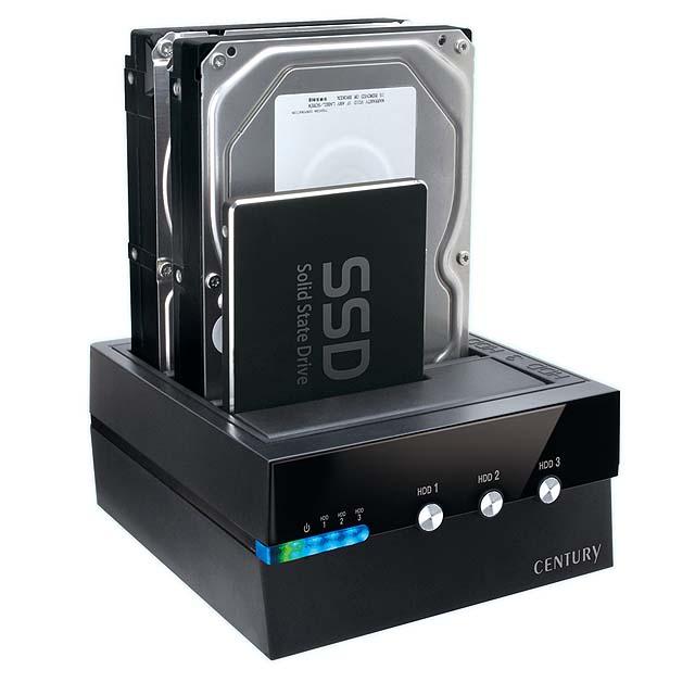 裸族のお立ち台 3Bay Independent Switch USB3.1 Gen2 CROS3U31CIS