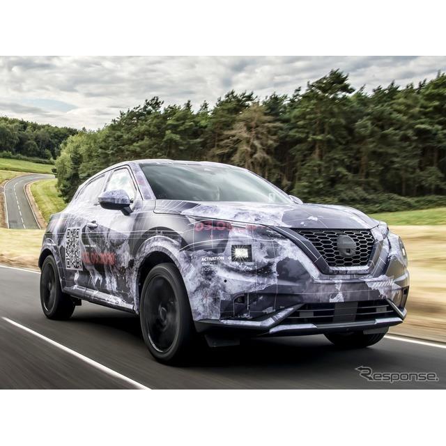 日産自動車の欧州部門は9月2日、ツイッターで9月3日(日本時間9月4日)に初公開する新型『ジューク』(Niss...