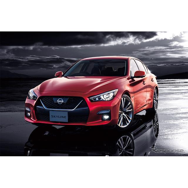 日産自動車は、新型『スカイライン』の受注状況について、7月16日の発表から約1か月半で、販売計画の約9倍...