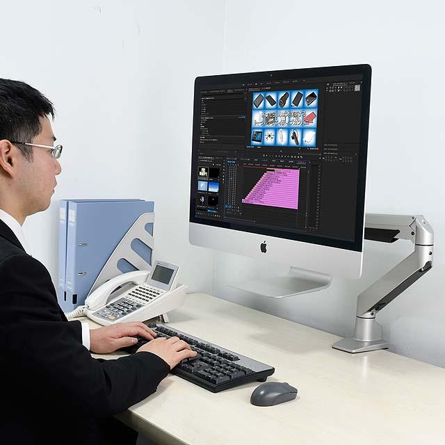iMac専用ガス圧式4軸シングルモニターアーム CEN-IMAC-SV2