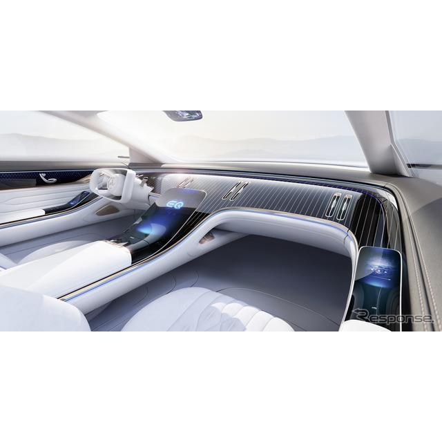 メルセデスベンツ「EQ」のセダンコンセプトカーのインテリア