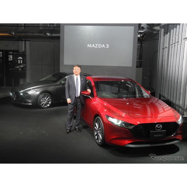 マツダは9月20日、東京渋谷区のジングで新型SUV『CX-30』の発表会を開催した。しかし、報道陣の中には新世...