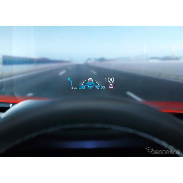 パナソニックは、同社の小型HUD(ヘッドアップディスプレイ)が、日産自動車が9月17日発売した改良新型『ス...