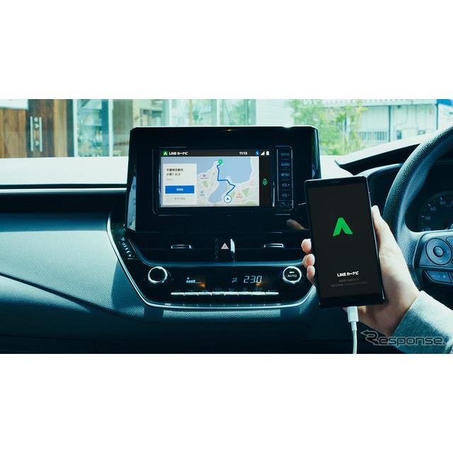 車のディスプレイと連携し、音声対話により走行中も安全にナビゲーション操作が可能