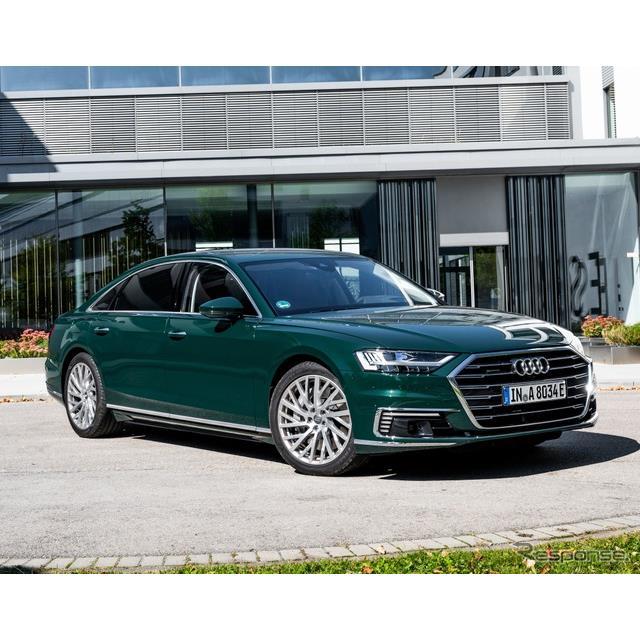 アウディ(Audi)は10月7日、新型『A8』のプラグインハイブリッド車(PHV)、「60 TFSI e」グレードを欧州...