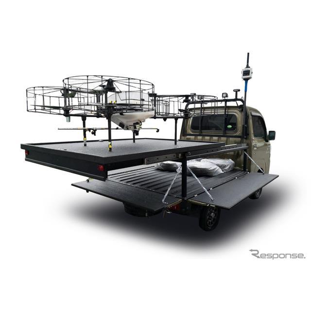 農業用ドローン発着ポート搭載車両のイメージ