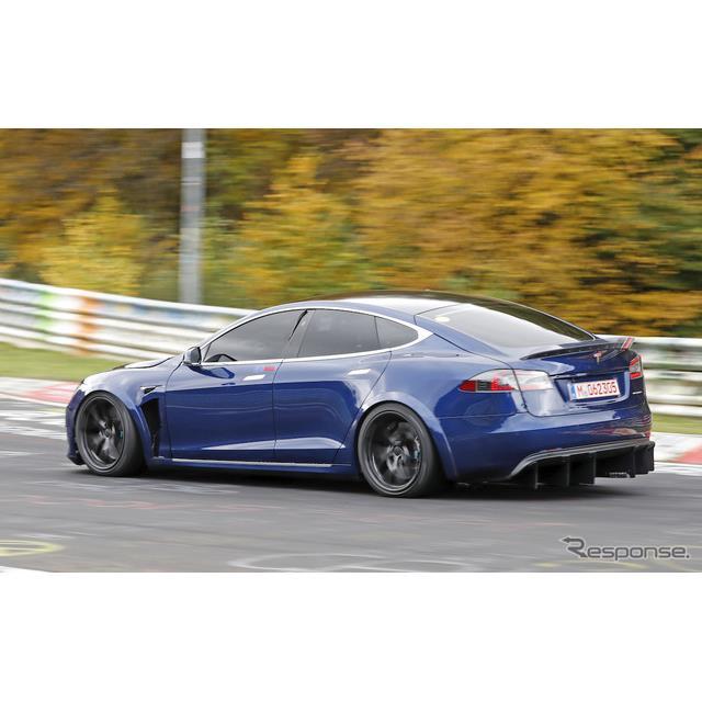 テスラは9月、『モデルS』の高性能モデルにより、ニュルブルクリンクでポルシェ『タイカン』の4ドアEVセダ...