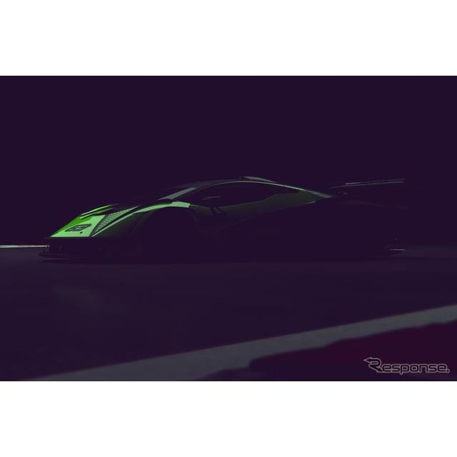 ランボルギーニの新型ハイパーカーのティザーイメージ