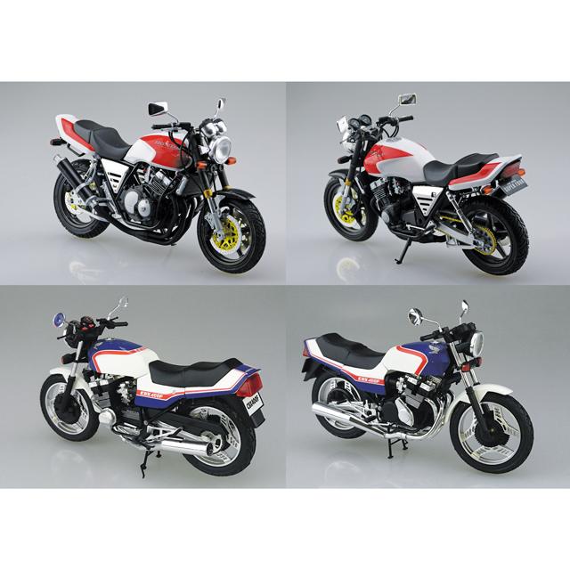 AOSHIMA、ホンダ「CB400SF」「CBX400F トリコロール」など12月再生産モデル