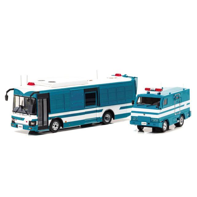 いすゞ エルガミオ 2018 警察本部警備部機動隊大型人員輸送車両、2005 警察本部警備部機動隊特型遊撃車両