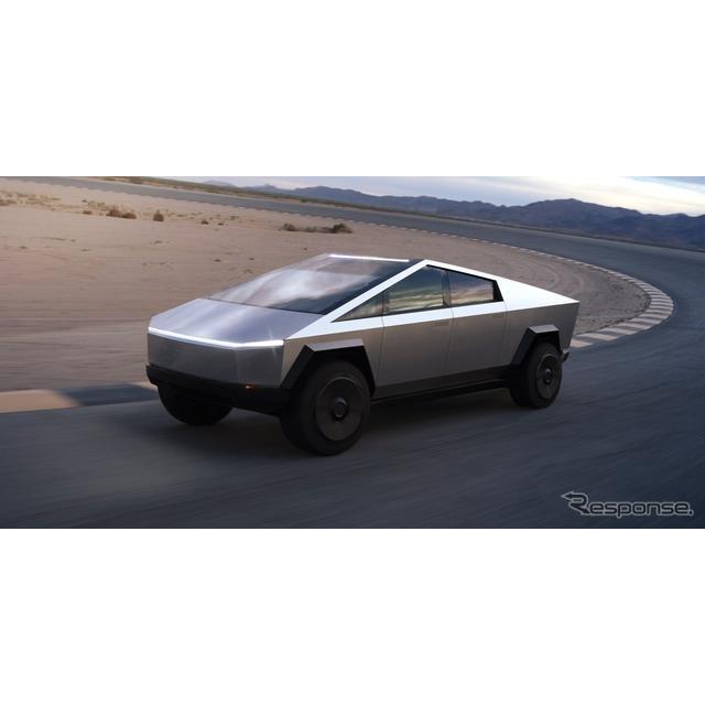 テスラ(Tesla)のイーロン・マスクCEOは11月24日、11月21日に初公開した同社初の電動ピックアップトラック...