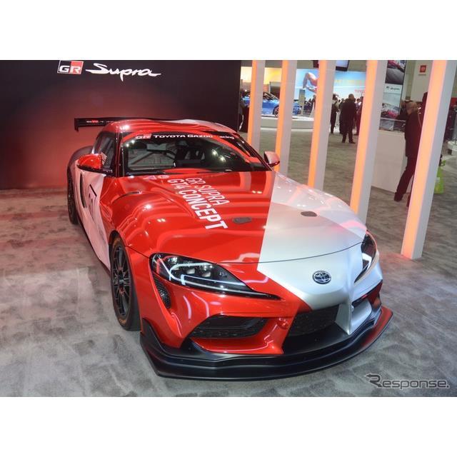 トヨタ自動車の米国部門は、ロサンゼルスモーターショー2019に、新型『スープラ』のレーシングカー、『GRス...