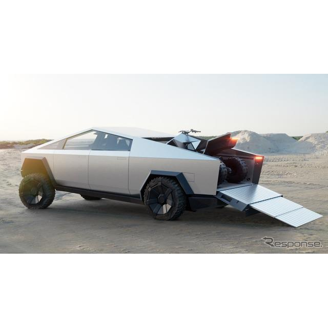 テスラのイーロン・マスクCEOは、『サイバートラック』(Tesla Cybertruck)の荷台に積載できる専用の電動A...