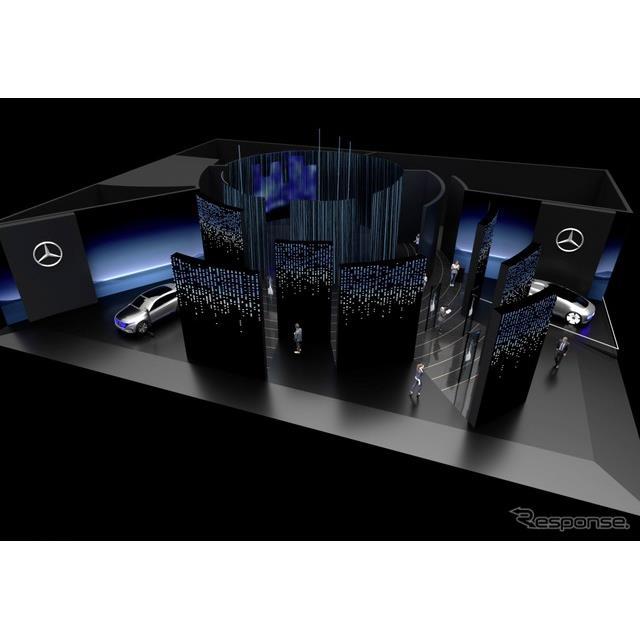 メルセデスベンツのCES 2020のブースイメージ