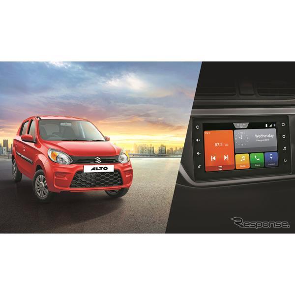 スズキのインド子会社のマルチスズキは12月19日、改良新型『アルト』(Suzuki Alto)のコネクティビティを...
