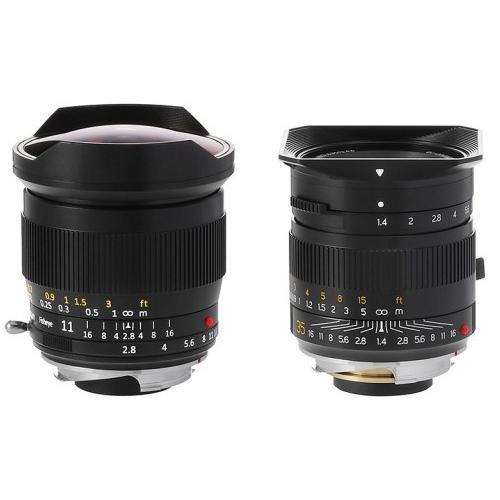 TTArtisan 11mm f/2.8 Fisheye(ブラック)、TTArtisan 35mm f/1.4 ASPH(ブラック)