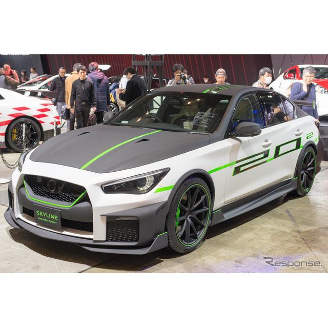 日産自動車は東京オートサロン2020で、方向性の異なる『スカイライン』のコンセプトカーを2台展示した。 ...
