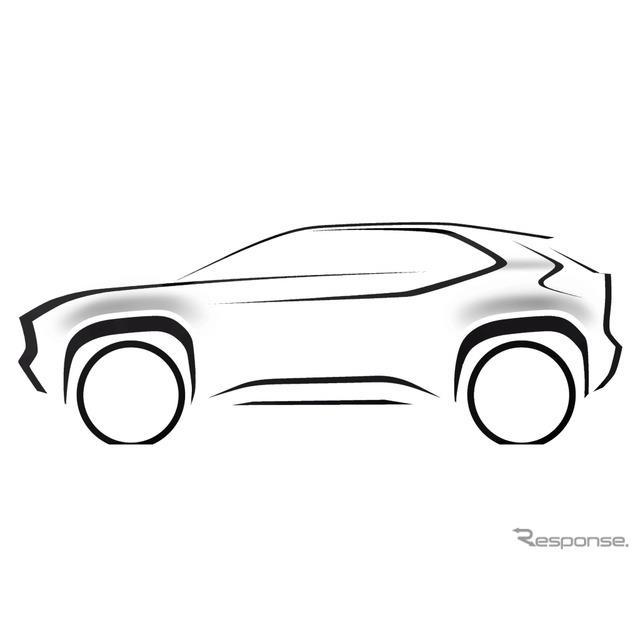 トヨタの新型コンパクトSUVのティザースケッチ