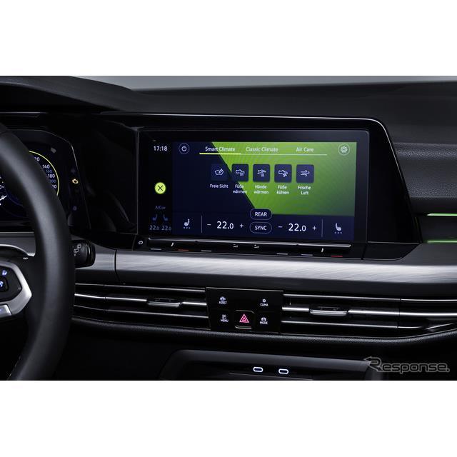 フォルクスワーゲンは、新型『ゴルフ』(Volkswagen Golf)に、音声コマンドによって、空調システムの温度...