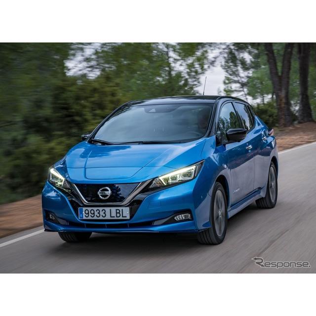 日産自動車の欧州部門は1月20日、新型『リーフ NISMO RC』の欧州初公開イベントにおいて、『リーフ』(Niss...