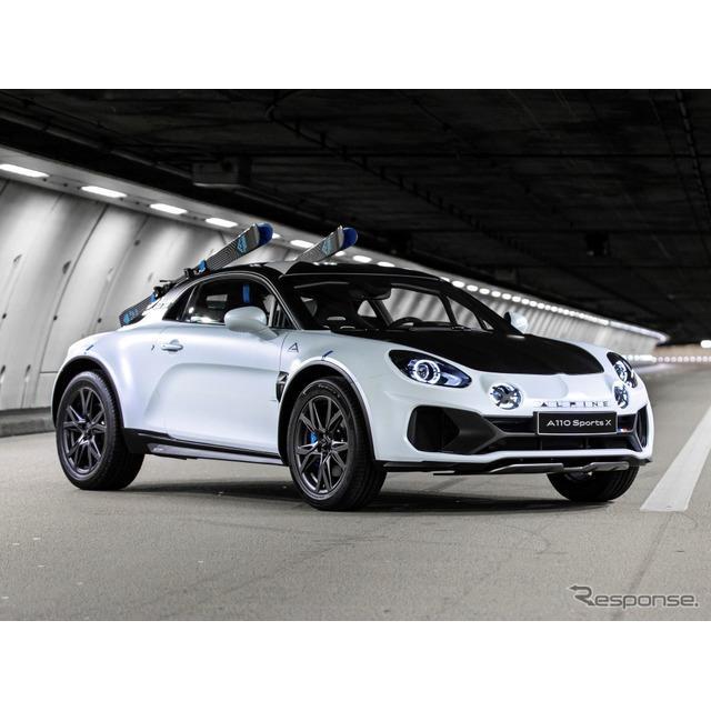 ルノー傘下のアルピーヌは1月29日、コンセプトカーのアルピーヌ『A110 SportsX』(Alpine A110 SportsX)を...