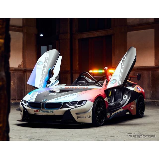 BMWグループは2月15日、「フォーミュラE」のセーフティカーとして、『i8ロードスター』(BMW i8 Roadster)...